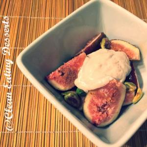 Fresh Figs with Cashew Yoghurt