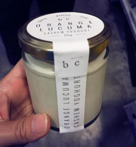 orange lacuma cashew yoghurt